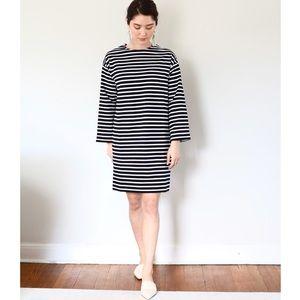 Everlane Breton Cotton Striped Oversize Dress Sz S